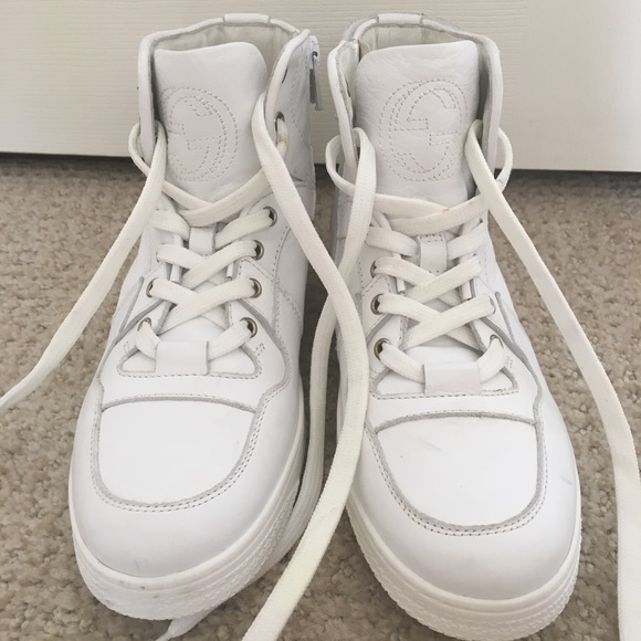 exquisite style big sale pretty cool New Gucci kids white high top sneakers size 33